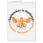 Leukemia Awareness Month Butterfly 3.3 Greeting Cards