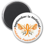 Leukemia Awareness Month Butterfly 3.3 Magnets