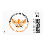 Leukemia Awareness Month Butterfly 3.3 Postage Stamps