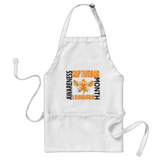 Leukemia Awareness Month Butterfly 3.4 Adult Apron