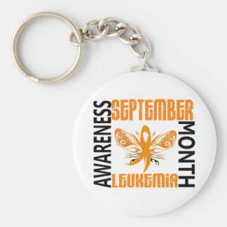 Leukemia Awareness Month Butterfly 3 4 Key Chain