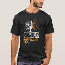 Leukemia Awareness Month Butterfly Tree Blood Canc T-Shirt
