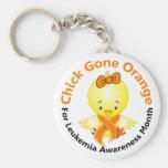 Leukemia Awareness Month Chick 2 Keychain