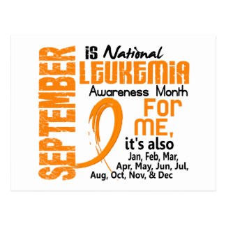 Leukemia Awareness Month Every Month For Me Postcard