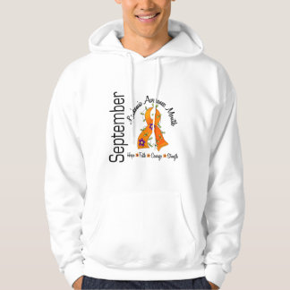 Leukemia Awareness Month Flower Ribbon 1 Hoodie