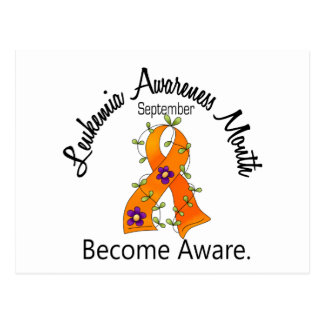 Leukemia Awareness Month Flower Ribbon 2 Postcard