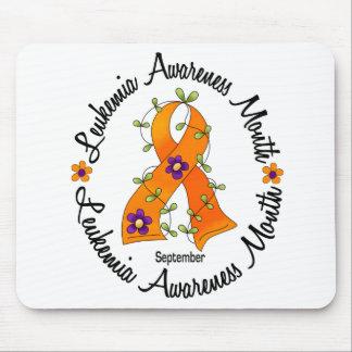 Leukemia Awareness Month Flower Ribbon 3 Mouse Pad