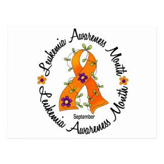 Leukemia Awareness Month Flower Ribbon 3 Postcard