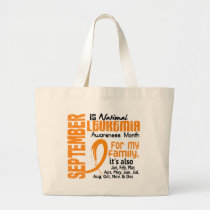 Leukemia Awareness Month Large Tote Bag