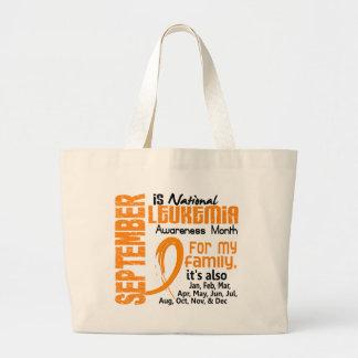 Leukemia Awareness Month Large Tote Bag