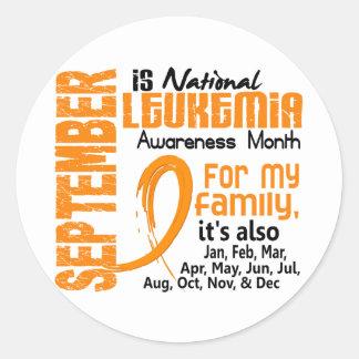 Leukemia Awareness Month Classic Round Sticker
