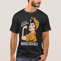 Leukemia Awareness Month Woman Unbreakable Warrior T-Shirt