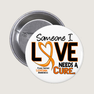 Leukemia Awareness NEEDS A CURE 2 Pinback Button