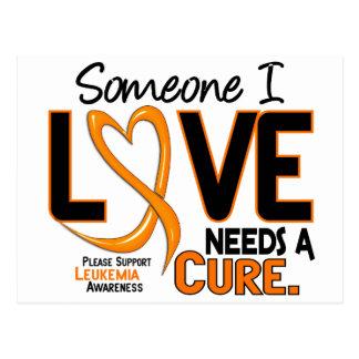Leukemia Awareness NEEDS A CURE 2 Postcard