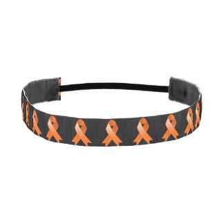 Leukemia Awareness Orange Ribbon Athletic Headbands