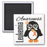 Leukemia Awareness Penguin Fridge Magnet