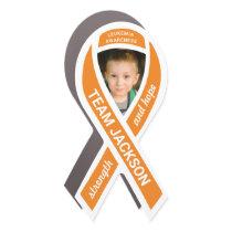 Leukemia Awareness Photo Orange Ribbon Car Magnet