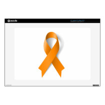 "Leukemia Awareness Ribbon 15"" Laptop Decal"
