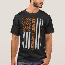 Leukemia Awareness Ribbon American Flag T-Shirt
