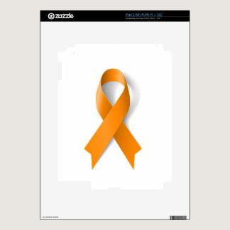 Leukemia Awareness Ribbon Decals For iPad 2