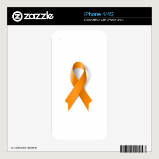 Leukemia Awareness Ribbon Decals For The iPhone 4S