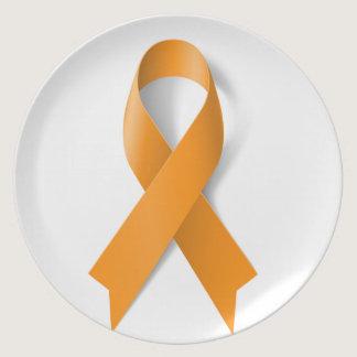 Leukemia Awareness Ribbon Dinner Plate
