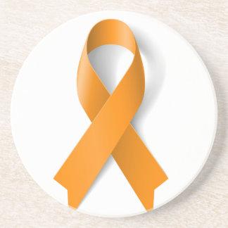 Leukemia Awareness Ribbon Drink Coaster