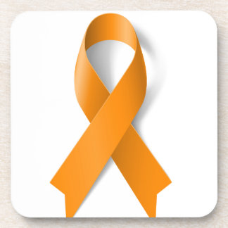 Leukemia Awareness Ribbon Drink Coaster