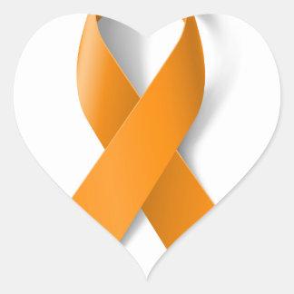 Leukemia Awareness Ribbon Heart Sticker