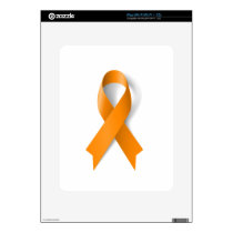 Leukemia Awareness Ribbon iPad Skin