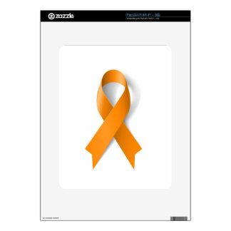 Leukemia Awareness Ribbon iPad Skin