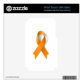 Leukemia Awareness Ribbon iPod Touch 4G Skins