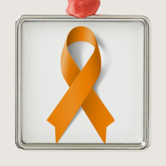 Leukemia Awareness Ribbon Metal Ornament