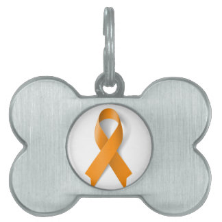 Leukemia Awareness Ribbon Pet Name Tag