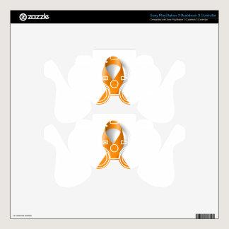 Leukemia Awareness Ribbon PS3 Controller Decal