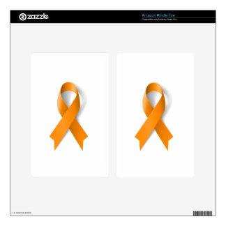 Leukemia Awareness Ribbon Skin For Kindle Fire