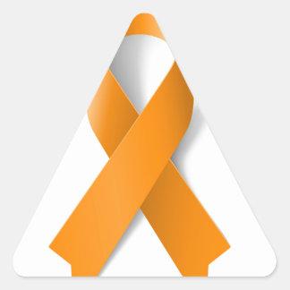 Leukemia Awareness Ribbon Triangle Sticker