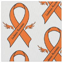 Leukemia Awareness Ribbon with Wings Fabric