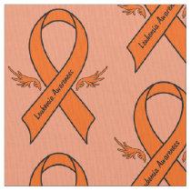 Leukemia Awareness Ribbon with Wings Fabric