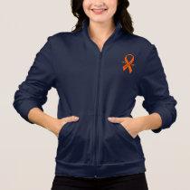 Leukemia Awareness Ribbon with Wings Jacket