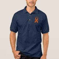 Leukemia Awareness Ribbon with Wings Polo Shirt