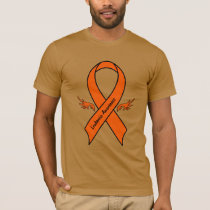 Leukemia Awareness Ribbon with Wings T-Shirt