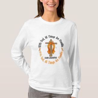 Leukemia Awareness WITH GOD CROSS T-Shirt