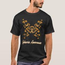 Leukemia Awareness Women's Butterfly Blood Cancer  T-Shirt