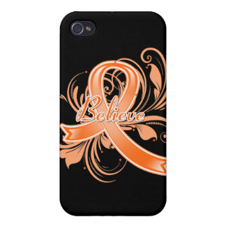 Leukemia Believe Flourish Ribbon iPhone 4/4S Cover