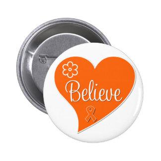 Leukemia Believe Heart Button