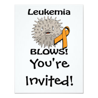 Leukemia Blows Awareness Design Orange Custom Invitations