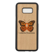 Leukemia Butterfly Awareness Ribbon Carved Samsung Galaxy S8  Case