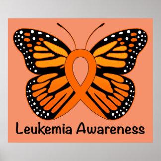 Leukemia Butterfly Awareness Ribbon Poster