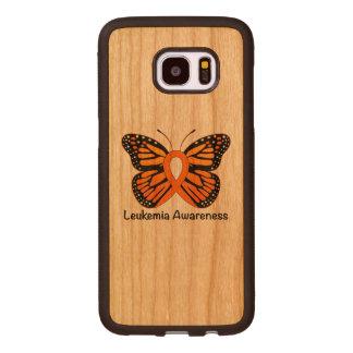 Leukemia Butterfly Awareness Ribbon Wood Samsung Galaxy S7 Edge Case